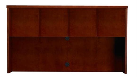 "Hutches Mayline Office Furniture Wood Veneer 70""W Hutch with Doors"