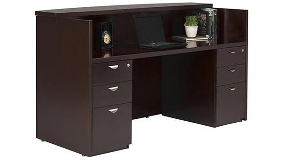Reception Desks Mayline Office Furniture Double Pedestal Reception Station