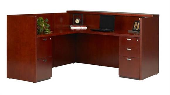 Reception Desks Mayline Office Furniture L Shaped Wood Veneer Reception Desk