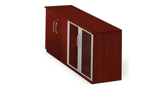 Storage Cabinets Mayline Office Furniture Low Wall Cabinet with Doors