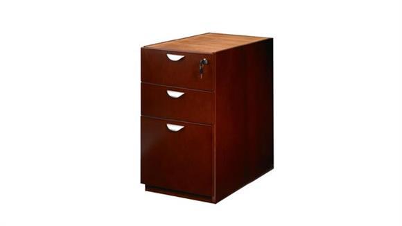 File Cabinets Vertical Mayline Office Furniture Wood Veneer 3 Drawer Pedestal for Credenza or Return