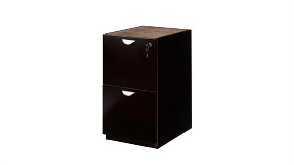 File Cabinets Vertical Mayline Office Furniture Wood Veneer 2 Drawer Pedestal for Credenza or Return