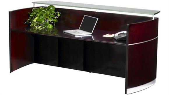 Reception Desks Mayline Office Furniture Napoli Reception Station