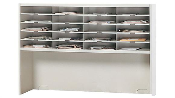 """Mail Sorters Mayline Office Furniture 48""""W 1 Tier Mail Sorter with Riser"""
