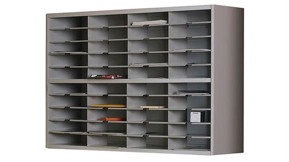"""Mail Sorters Mayline Office Furniture 48""""W 2 Tier Mail Sorter"""