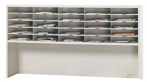 """Mail Sorters Mayline Office Furniture 60""""W 1 Tier Mail Sorter with Riser"""