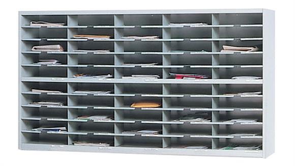 """Mail Sorters Mayline Office Furniture 60""""W 2 Tier Mail Sorter"""