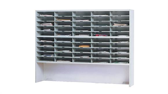"""Mail Sorters Mayline Office Furniture 60""""W 2 Tier Mail Sorter with Riser"""