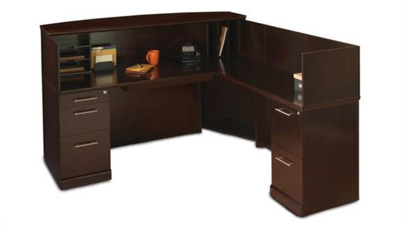 Reception Desks Mayline Office Furniture L Shaped Reception Desk with Veneer Counter
