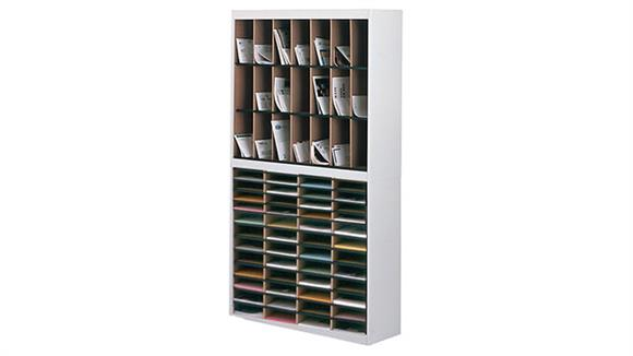 """Mail Sorters Mayline Office Furniture 38""""W 2 Tier VertiPocket Combination Mail Sorter"""