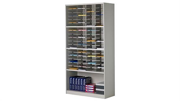 """Magazine & Literature Storage Mayline Office Furniture 42""""W Literature/Form Storage Unit"""