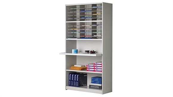 """Mail Sorters Mayline Office Furniture 42""""W Mail Sorter and Storage Unit"""