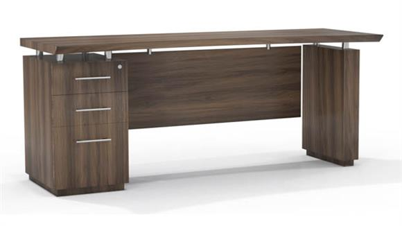 "Office Credenzas Mayline Office Furniture 72"" Single Pedestal Credenza"