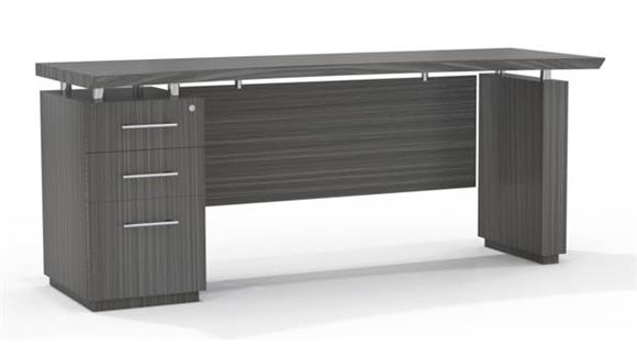 "Office Credenzas Mayline Office Furniture 66"" Single Pedestal Credenza"