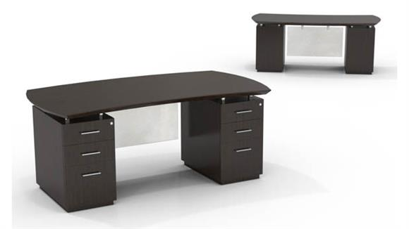 "Executive Desks Mayline Office Furniture 72"" Double Pedestal Desk"