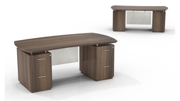 "Executive Desks Mayline Office Furniture 72"" Double Pedestal Desk"