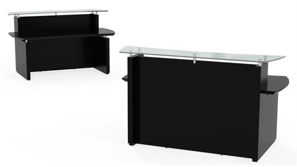 "Reception Desks Mayline Office Furniture 72"" Reception Desk"
