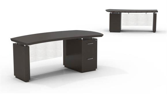 "Executive Desks Mayline Office Furniture 66"" Single Pedestal Desk"