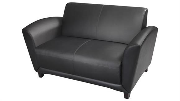 Loveseats Mayline Office Furniture Leather Loveseat