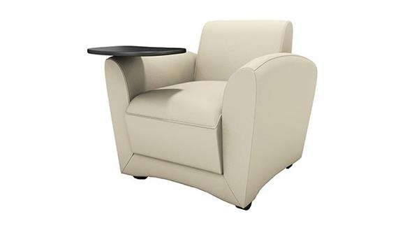 Side & Guest Chairs Mayline Office Furniture Mobile Lounge Chair with Tablet