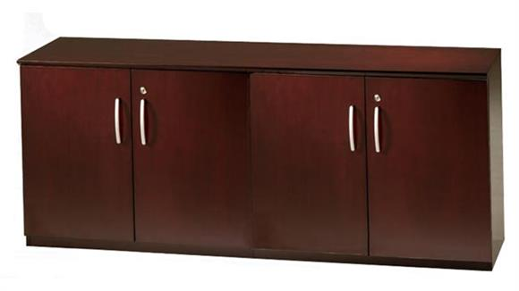 Storage Cabinets Mayline Office Furniture Low Wall Cabinet with Wood Doors