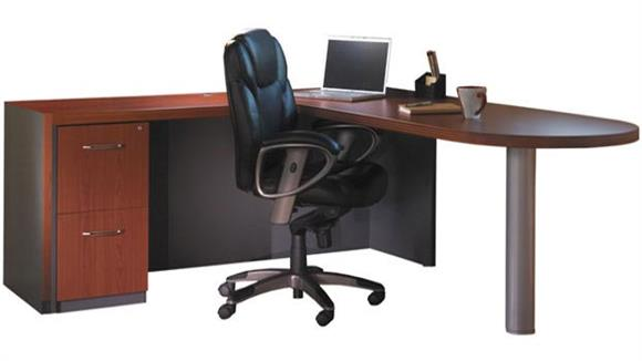 "L Shaped Desks Mayline Office Furniture 66"" x 84"" L Shaped Peninsula Desk"