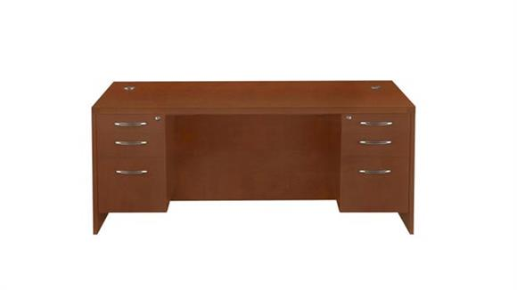 "Executive Desks Mayline Office Furniture 72"" x 30"" Double Pedestal Desk"