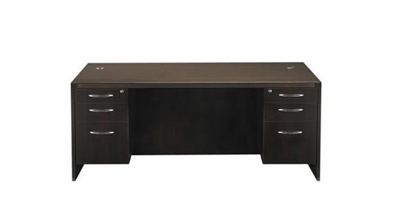 "Office Credenzas Mayline Office Furniture 60"" x 24"" Double Pedestal Credenza"
