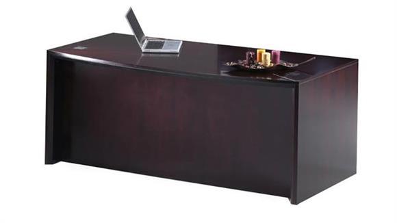 "Executive Desks Mayline Office Furniture 72"" Bow Front Desk"