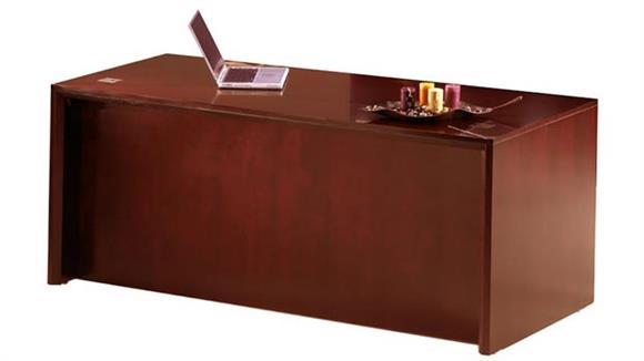 "Executive Desks Mayline Office Furniture 72"" Straight Front Desk"