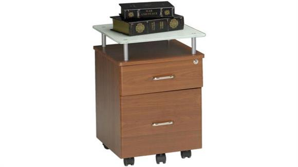 Mobile File Cabinets Mayline Glass Top Mobile Pedestal