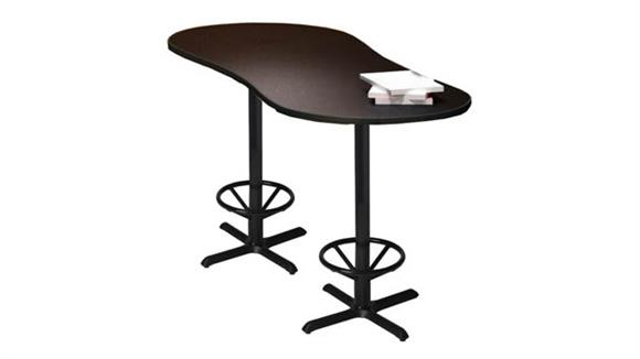 """Conference Tables Mayline 72"""" x 30"""" Bar Height Peanut Conference Table"""