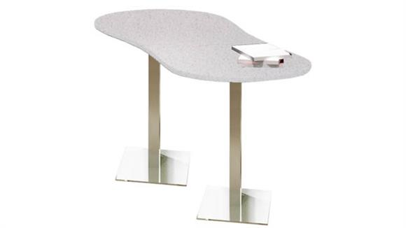 """Conference Tables Mayline 72"""" x 30"""" Peanut Dining Height Table"""