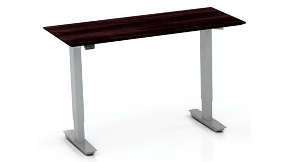 """Adjustable Height Desks & Tables Mayline 48"""" Non-Handed Straight Bridge with 2-Stage Height-Adjustable Base"""