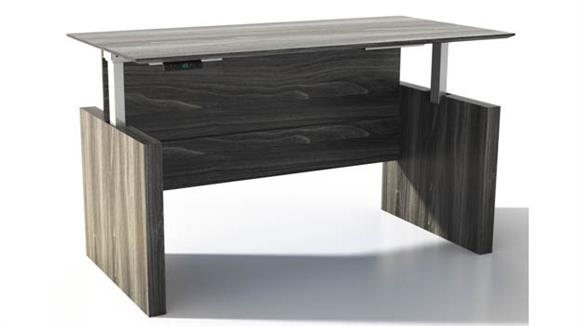 "Adjustable Height Desks & Tables Mayline Height-Adjustable 72"" Straight  Front Desk"