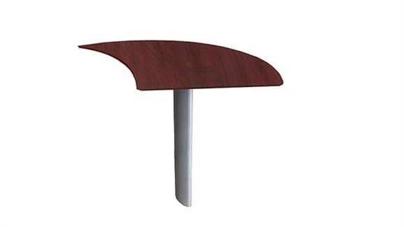 Desk Parts & Accessories Mayline Curved Desk Extension