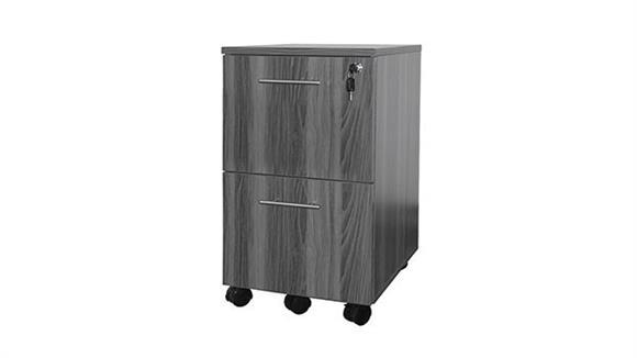 Mobile File Cabinets Mayline 2 Drawer Mobile Pedestal