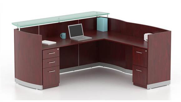 Reception Desks Mayline L Shaped Reception Desk