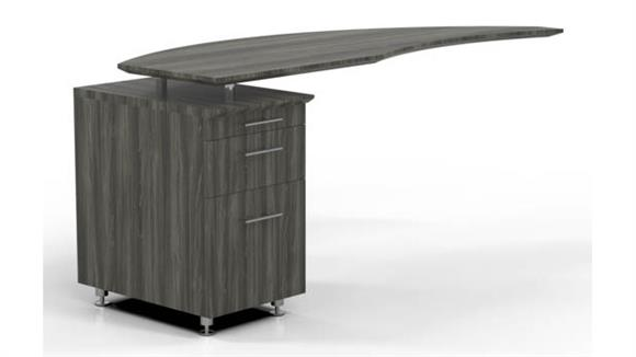 Desk Parts & Accessories Mayline Curved Desk Return with Pedestal