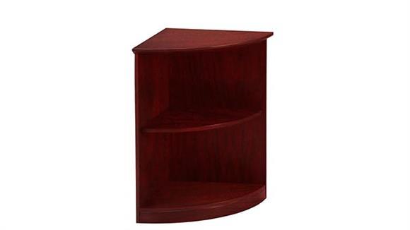 Bookcases Mayline 2 Shelf Quarter Round Bookcase