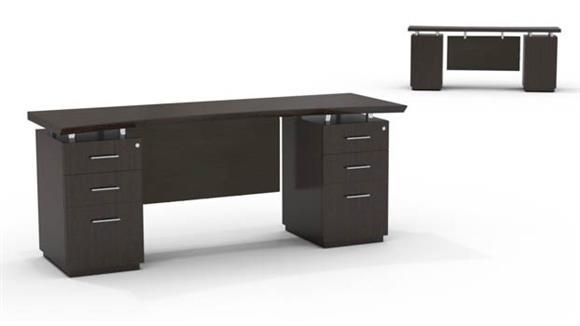 "Office Credenzas Mayline 72"" Double Pedestal Credenza"
