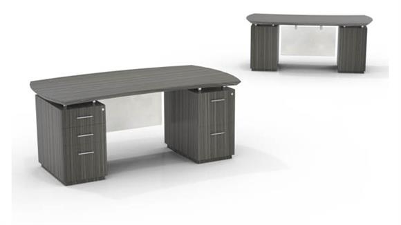"Executive Desks Mayline 72"" Double Pedestal Desk"