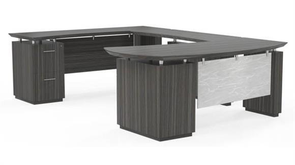 U Shaped Desks Mayline U Shaped Desk