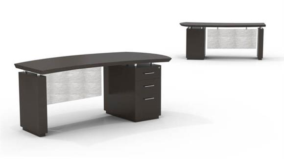 "Executive Desks Mayline 72"" Single Pedestal Desk"