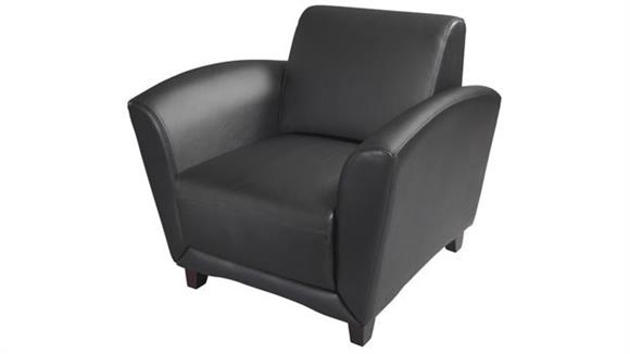 Side & Guest Chairs Mayline Leather Club Chair