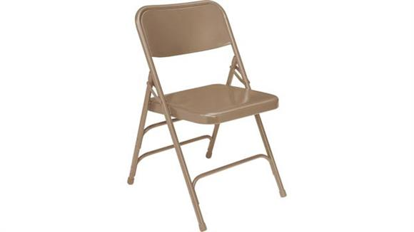 Folding Chairs National Public Seating Premium All-Steel Triple Brace Double Hinge Folding Chair
