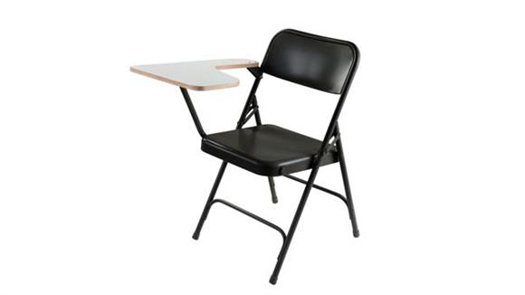 Folding Chairs National Public Seating Premium Folding Chair with High Pressure Tablet Arm