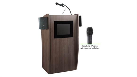 Podiums & Lecterns National Public Seating Lectern with Sound & Screen & Wireless Handheld Mic