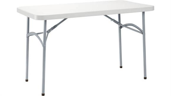 "Folding Tables National Public Seating 24"" x 48"" Heavy Duty Folding Table"