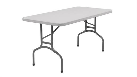 "Folding Tables National Public Seating 60"" Lightweight Folding Table"